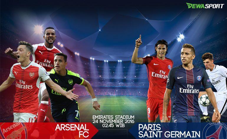 Prediksi Pertandingan Antara Arsenal Melawan Paris Saint-Germain