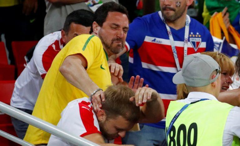 Terjadi Perkelahian Suporter di Laga Serbia Vs Brasil