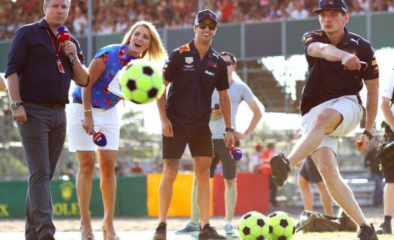 Serunya Video Pembalap F1 Nendang Bola, Kayak di Piala Dunia Aja
