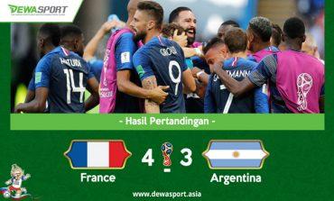 Hasil Piala Dunia 2018: Menang 4-3, Prancis Singkirkan Argentina