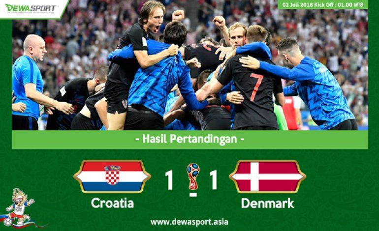 Hasil Pertandingan Kroasia vs Denmark: Skor 1-1 (3-2)