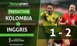 Prediksi Kolombia 1 - 2 Inggris 4 Juli 2018