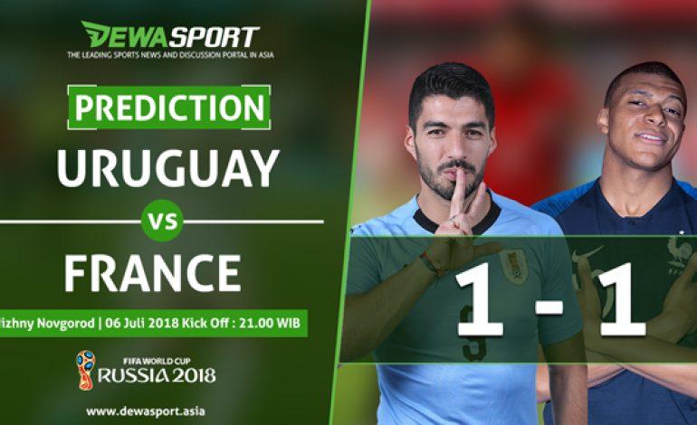 Prediksi Uruguay vs Prancis 6 Juli 2018