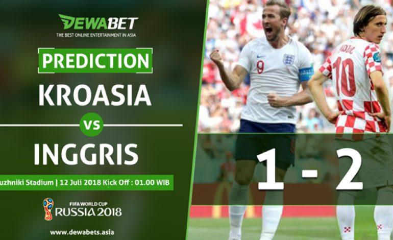 Prediksi Kroasia vs Inggris 12 Juli 2018