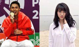 Meski Sedang Sibuk Berkompetisi, Jonatan Christie Sempat lakukan Ini pada Shanju Kapten JKT48