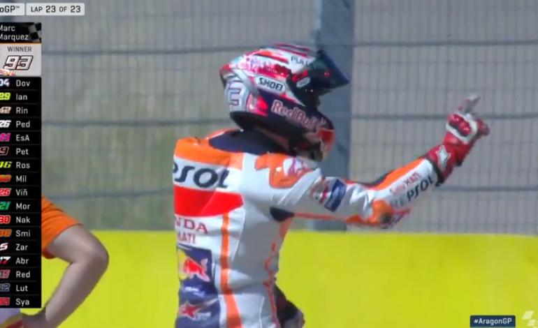 Video Marc Marquez Tari Selebrasi Baru di MotoGP Aragon