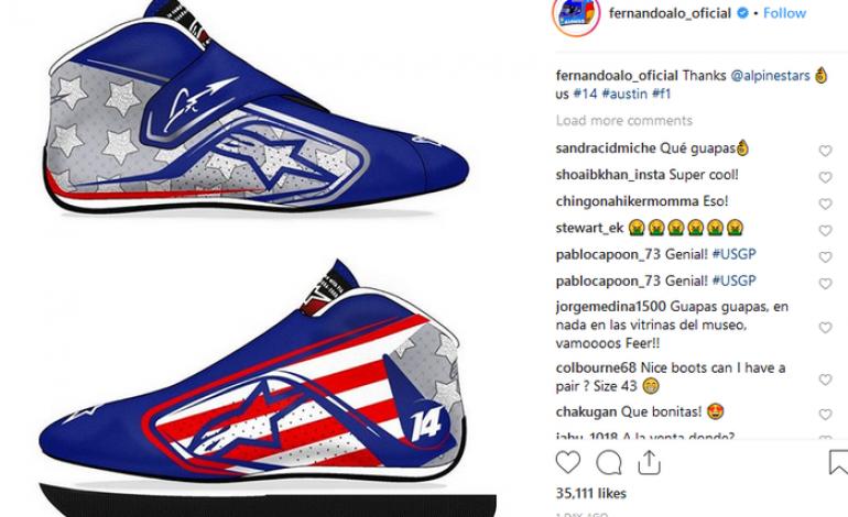 Nah, Kan! Fernando Alonso Pakai Sepatu Balap Baru di F1 Amerika