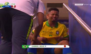 Gabriel Jesus Jelaskan Alasan Mewek dan Pukul Alat VAR Copa America
