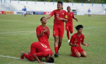 Pertandingan Piala AFF U-15: Indonesia vs Singapura