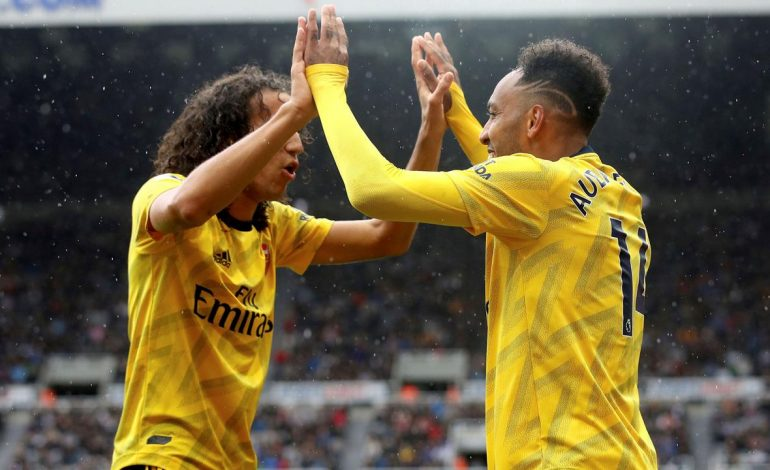 Gol Pierre-Emerick Aubameyang Bawa Arsenal Bungkam Newcastle United