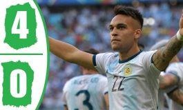 Lautaro Martinez Hat-trick, Argentina Tekuk Meksiko 4-0