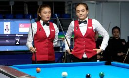 Duet Fathrah/Nony Lolos ke Final Bola 9 Ganda Putri