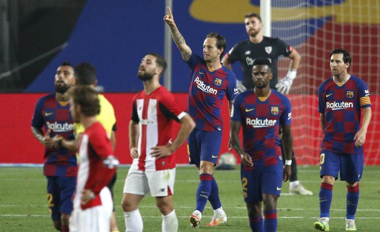 Gol Rakitic ke Gawang Bilbao Bawa Barcelona Kembali ke Singgasana