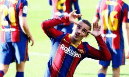 Bukan Hanya Lionel Messi, Antoine Griezmann Senyumnya Juga Mulai Merekah