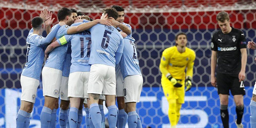 Manchester City vs Borussia Monchengladbach: Skor 2-0