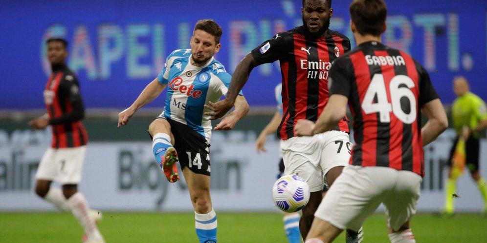 Hasil Pertandingan AC Milan vs Napoli: Skor 0-1