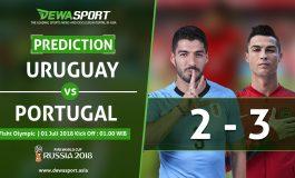 Prediksi Uruguay vs Portugal 1 Juli 2018