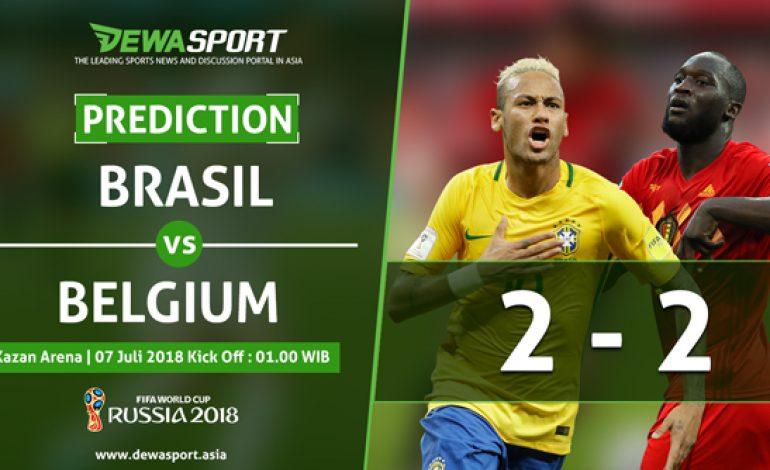 Prediksi Brasil vs Belgia 7 Juli 2018