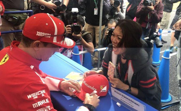 Foto-foto Histeris Fans Ketemu Kimi Raikkonen Menjelang F1 Jepang