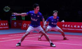 Marcus/Kevin Benamkan Juara Bertahan Li/Liu di Depan Fans China