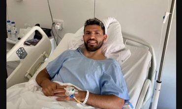 Sukses Operasi Lutut, Sergio Aguero Mulai Proses Pemulihan